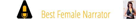 2017 Audie Award Winner Best Female Narrator